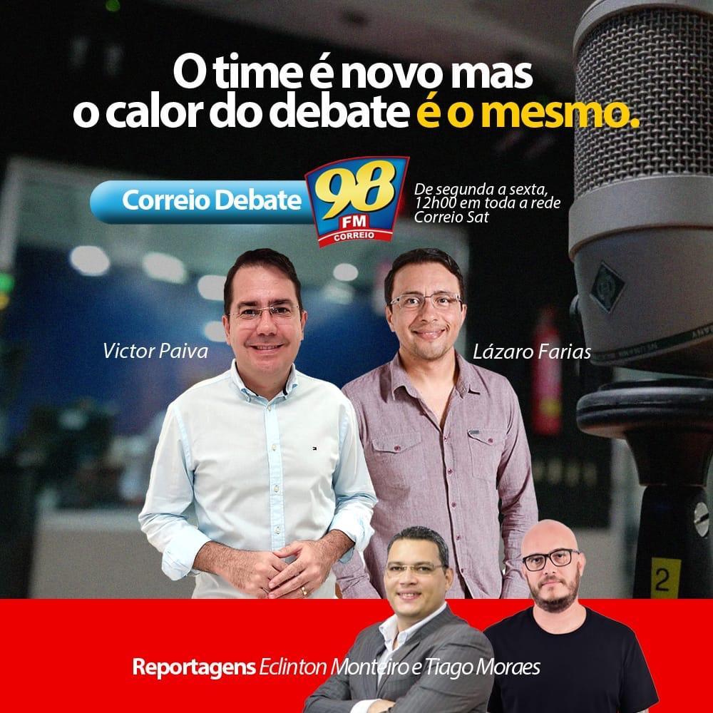 Photo of Thiago Moraes e Lázaro Farias  estreiam no Correio Debate nesta segunda-feira
